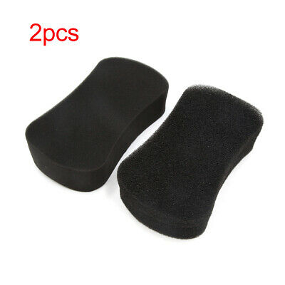 2pcs Black 8 Shaped Washing Tool Cleaning Sponge Pad for Car Body Household