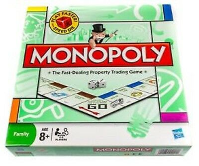 MONOPOLY Classic Board Game Parker Hasbro 2008 Edition QUICK RULES & SPEED DIE