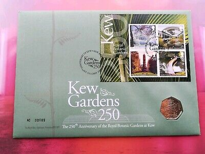 ORIGINAL 2009 Kew Gardens 50p PNC is perfect condition (won't be reissued )