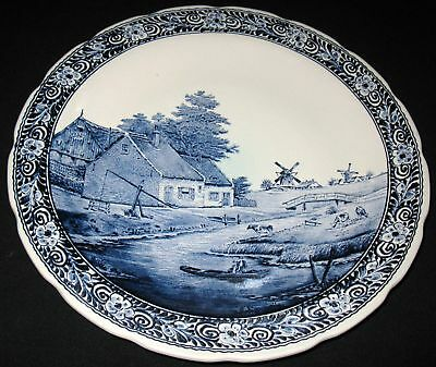 Vintage Delftware Boch Royal Sphinx Charger Wall Plate