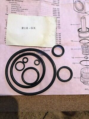 Norgren Series R18 High Flows Air Pressure Regulator Gasket Kit  R18-Gk