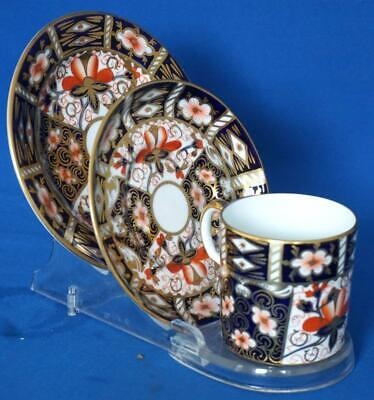 Royal Crown Derby Imari Porcelain Cup Saucer and Plate Pattern 2451 Antique