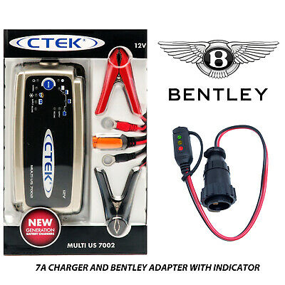 Bentley Continental Supersports Battery Charger 4.3A - 7A & Custom Adapter