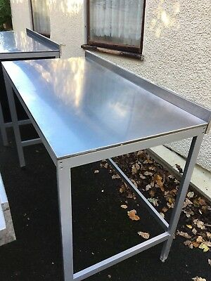 Stainless Steel Work Prep Table With Undercounter Space For Appliance