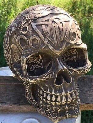 Latex  and fiberglass backer  skull concrete casting garden mold