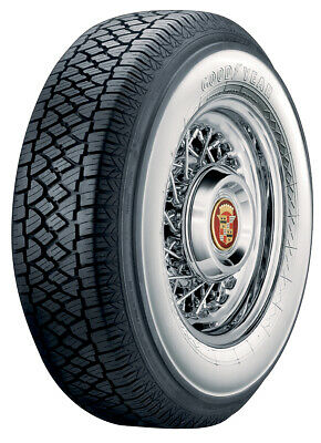 "Super Cushion Classic 3"" Wide Whitewall Radial Tire P225/75R15 Goodyear"