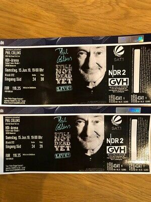 2 Tickets Konzert Phil Collins Hannover Sa 15.06.2019
