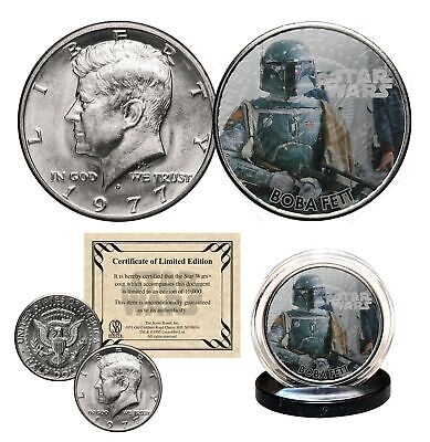 BOBA FETT - STAR WARS Officially Licensed 1977 JFK Half Dollar U.S. Coin