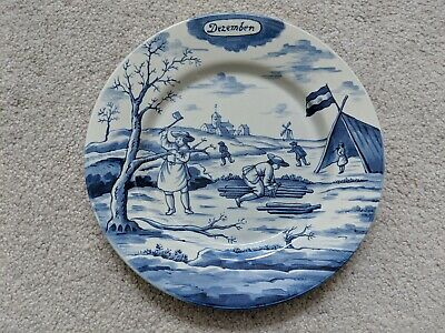 "DELFT HOLLAND METROPOLITAN MUSEUM OF ART MONTH OF THE YEAR December PLATE 9"" MMA"
