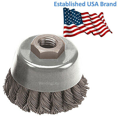 Pearl Abrasive Power Wire Brush CLWBK458 Knot Cup Wheel 4 x .020 x 5/8-11