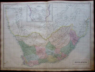 South Africa Orange Free State c.1860 A & C Black Bartholomew map