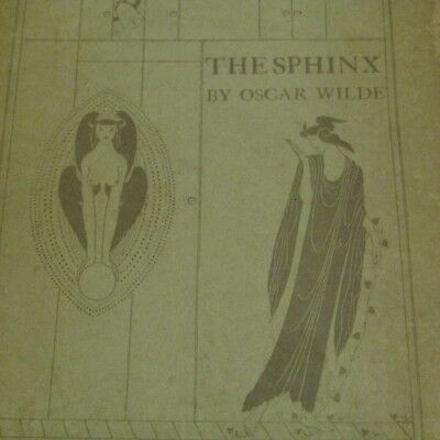 Rare antiquarian book The Sphinx by Oscar Wilde, early copy, 1918