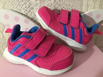 Infant Girls Adidas Pink Hyperfast 2.0  Trainers Uk 5 💕💕