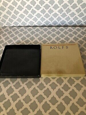 c3c63f8924d ROLFS MEN BI-FOLD Leather Black Wallet with Contrast Stitch New in ...