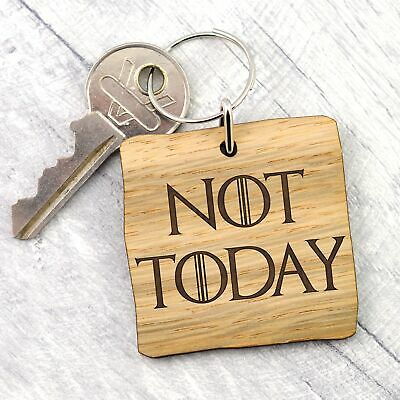 Not Today Game of Thrones Arya Stark Quote Faceless Men Keyring Get Well Soon
