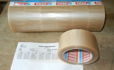 "6 Rolls TESA 4124 Box Carton Sealing Packing Tape 2"" X 72 yd 2.4 Mil Very Tuff"