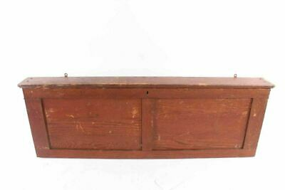 Antique Country School House Oak Map Case Cabinet
