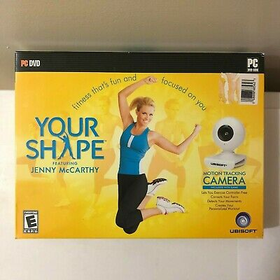 NEW SEALED YOUR SHAPE FT. JENNY McCARTHY FITNESS GAME & CAMERA (PC DVD 2009)
