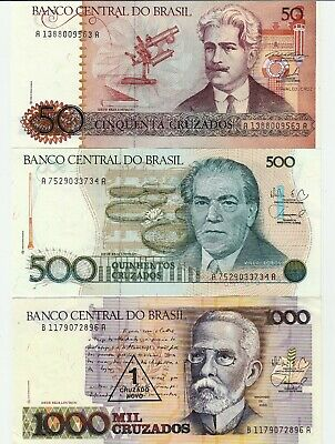 3 different Banknotes from BRAZIL - Lot 1
