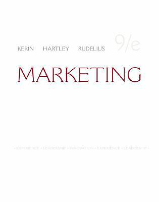 Marketing by William Rudelius, Steven W. Hartley and Roger A. Kerin (2008,...