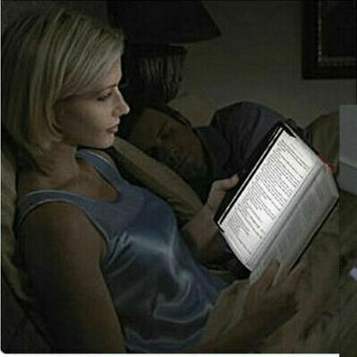 New Creative LED Book Light Reading Night Flat Plate Portable Car Travel Lamp