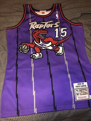 pretty nice 18ea9 63301 100% AUTHENTIC VINCE Carter Mitchell & Ness 98 99 Raptors Jersey Size 40 M  Mens