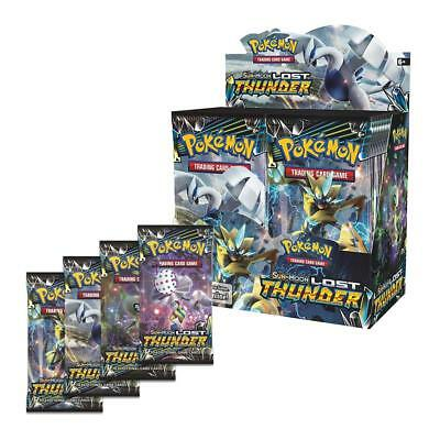 36 Booster-Pack Pokemon TCG Sun&Moon Lost Thunder Booster-Box Inklusive toy Gift