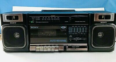 Vintage 80's Sony CFS-1010 AM/FM Stereo Cassette Player/Recorder Boombox!  RARE!