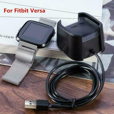 Charging Dock For Fitbit Versa Smart Watch USB Data Cable Base Desktop-Charger