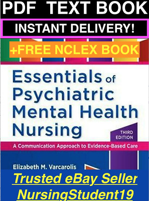 🔥TEXT BOOK Essentials of Psychiatric Mental Health Nursing 3rd Varcarolis NCLEX