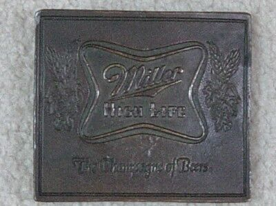 Belt Buckle ***MILLER HIGH LIFE*** THE CHAMPAGNE OF BEERS Western Style