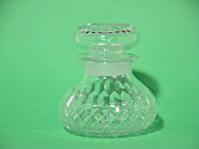Vintage Clear Moulded Faceted Glass Medium Size  Decanter