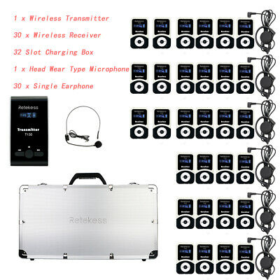 Retekess Portable Tour Guide system 99CH for Wireless Meeting/Church Translation