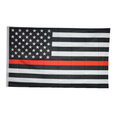 Thin Red Line 3x5ft Stars and Sewn Stripes Flag with Brass Grommets Firefighter