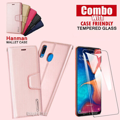 For Samsung Galaxy A20 A30 A50 A70 Flip Wallet Case Hanman Leather Stand Cover