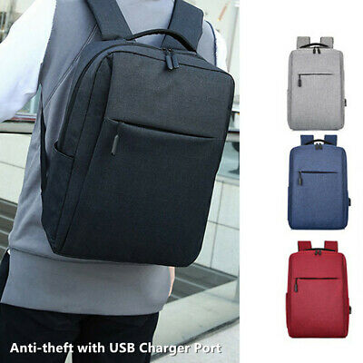 Antitheft Backpack Mens with USB Charger Port Laptop book Travel Hand School Bag
