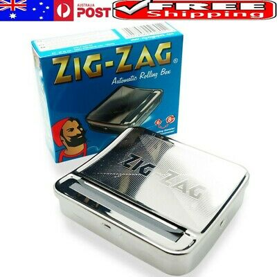 AU New Zig Zag Automatic Cigarette Tobacco Rolling Machine Box Tin New Zigzag