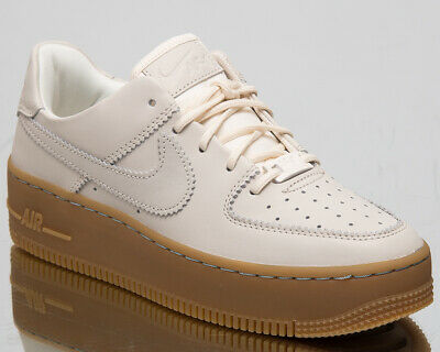 68e9916fb43f5 Nike Air Force 1 Sage Low LX Womens Pale Ivory Lifestyle Sneakers AR5409-100