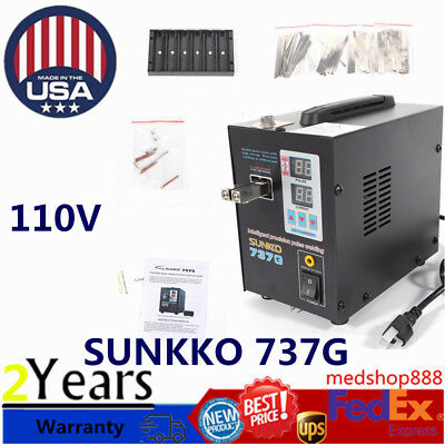 NEW Handheld SUNKKO 737G Battery Spot Welder with Pulse Current Display 800A