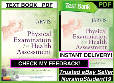 Physical Examination and & Health Assessment🔥Jarvis 7th🔥Test Bank +NCLEX BOOK!