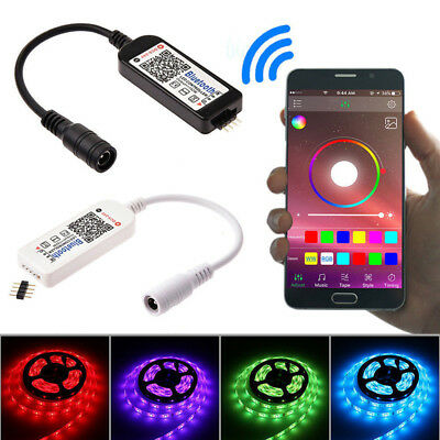 Mini Bluetooth/Wifi LED Controller Remote For 5050 3528 RGB/RGBW LED'Strip~Light