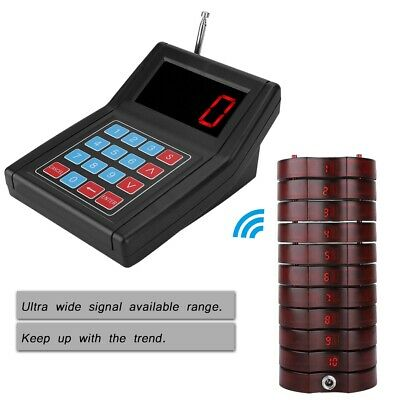 30PCS Restaurant Coaster Pager Guest Call Wireless Paging Queuing Calling System