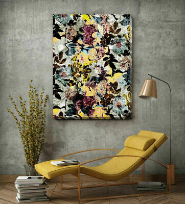 Flower Abstract Stretched Canvas Print Framed Home Office Wall Art Decor FW087