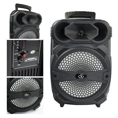 """8"""" BT Party Speaker System Bluetooth Big Led Portable Stereo Tailgate Loud FM TF"""