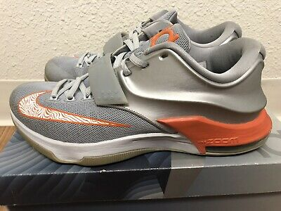 41d78bfd69d Nike Kd 7 Texas Longhorns Sz 9 Basketball Shoes!! Grey And Orange Kevin  Durant