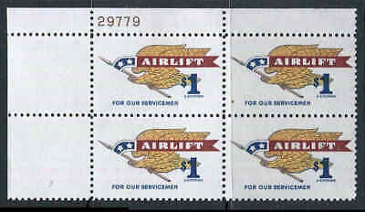 US MNH 1341 Plate Block 1968 Airlift Eagle 29779