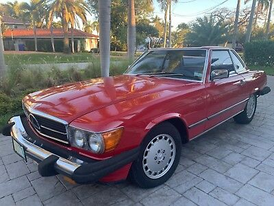 1987 Mercedes-Benz SL-Class SL 1987 MERCEDES-BENZ 560 SL Red Over Tan Interior . 2 Owners. Well Maintained.