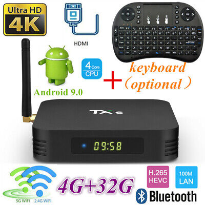 Lot TX6 Smart TV Box H6 4+32G Dual WiFi BT Quad Core 4K Player Android +Keyboard