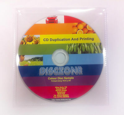 CD Duplication - 50 CD/DVD thermal printed & duplicated - Plastic Wallet