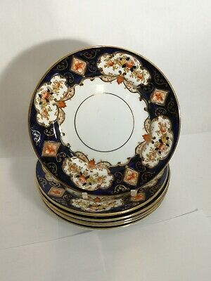 """Set of SIX Royal Albert CROWN CHINA Heirloom 6 1/4"""" Bread & Butter Plates"""
